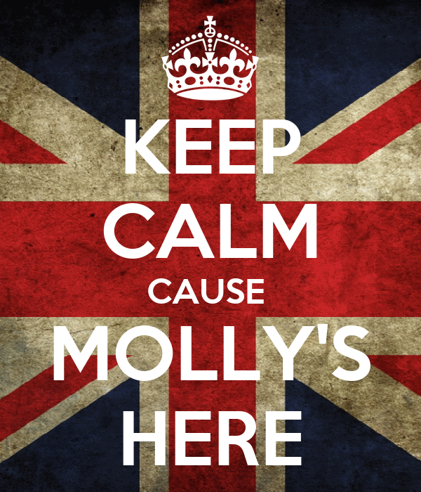 KEEP CALM CAUSE  MOLLY'S HERE