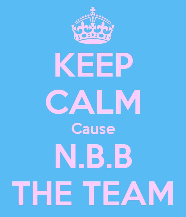KEEP CALM Cause N.B.B THE TEAM