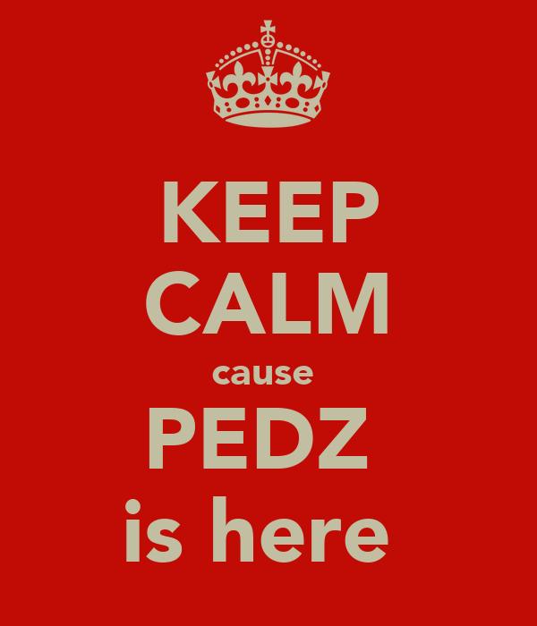 KEEP CALM cause  PEDZ  is here