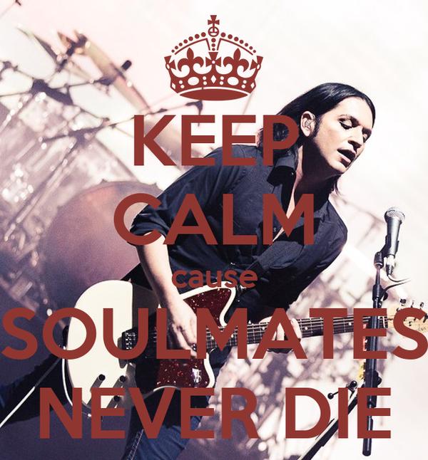 KEEP CALM cause SOULMATES NEVER DIE