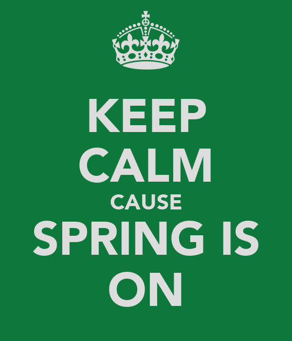 KEEP CALM CAUSE SPRING IS ON