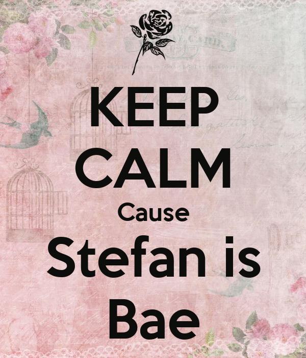 KEEP CALM Cause Stefan is Bae