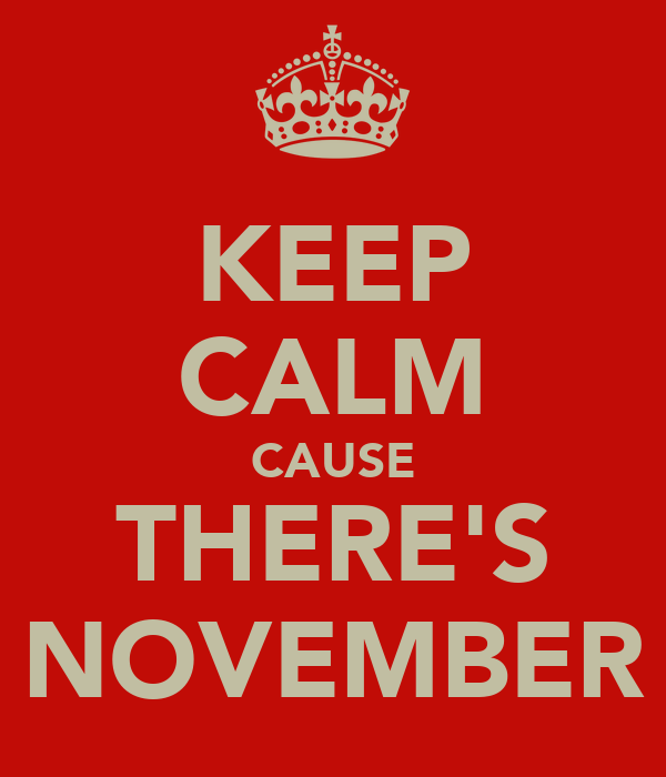 KEEP CALM CAUSE THERE'S NOVEMBER