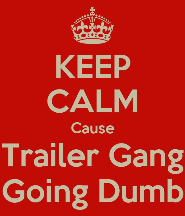 KEEP CALM Cause Trailer Gang Going Dumb