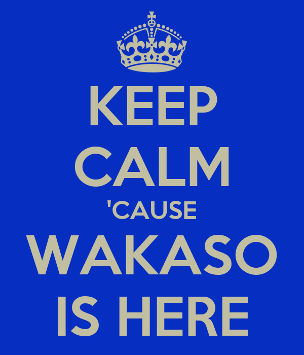 KEEP CALM 'CAUSE WAKASO IS HERE