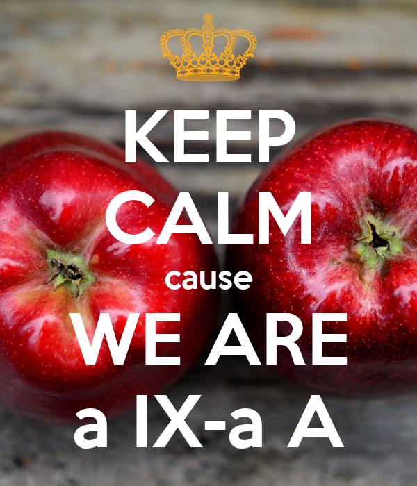 KEEP CALM cause WE ARE a IX-a A