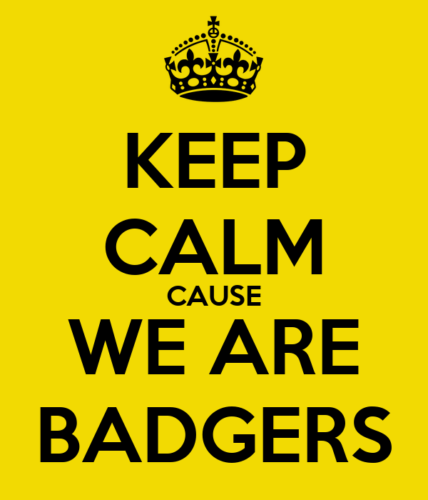 KEEP CALM CAUSE WE ARE BADGERS