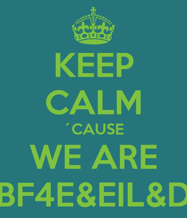 KEEP CALM ´CAUSE WE ARE BF4E&EIL&D