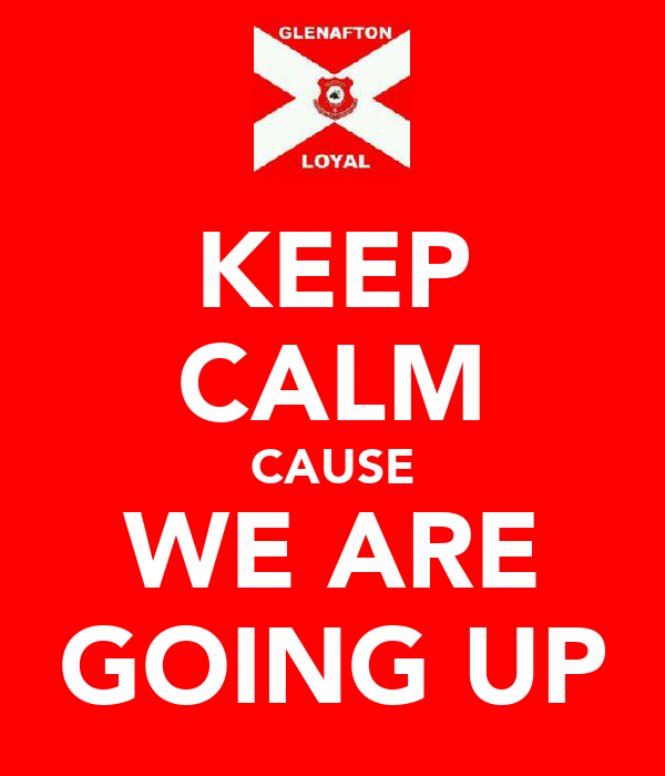 KEEP CALM CAUSE WE ARE GOING UP