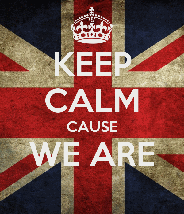 KEEP CALM CAUSE WE ARE
