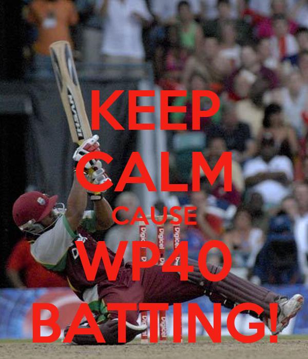 KEEP CALM CAUSE WP40 BATTING!
