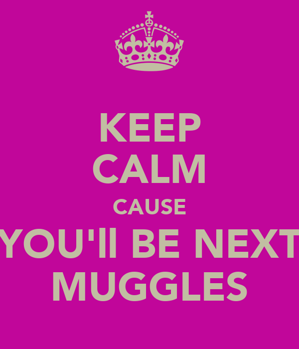 KEEP CALM CAUSE YOU'll BE NEXT MUGGLES