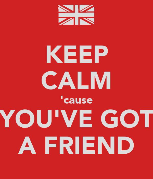 KEEP CALM 'cause YOU'VE GOT A FRIEND