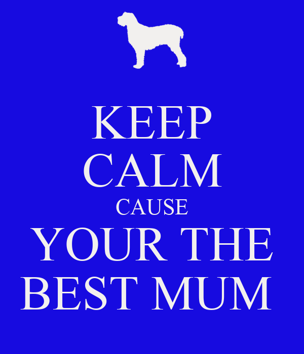 KEEP CALM CAUSE YOUR THE BEST MUM