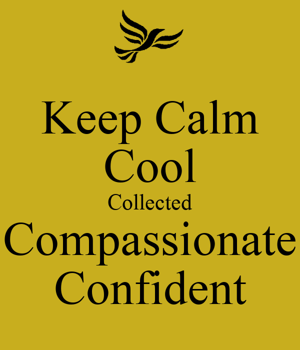 keep calm cool collected compassionate confident poster savannah