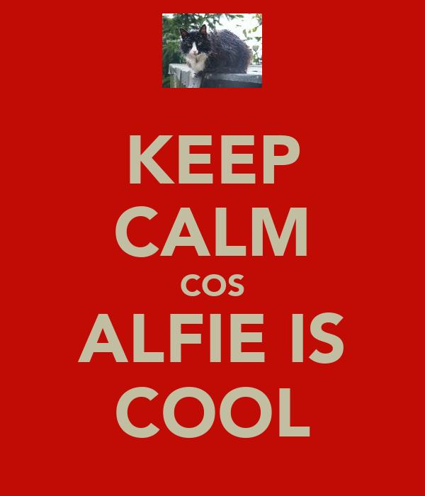 KEEP CALM COS ALFIE IS COOL
