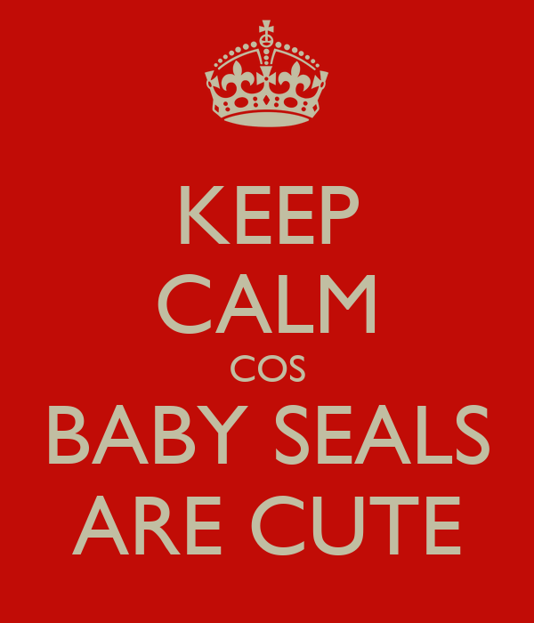 KEEP CALM COS BABY SEALS ARE CUTE