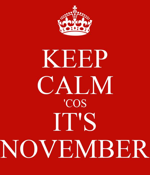 KEEP CALM 'COS IT'S NOVEMBER