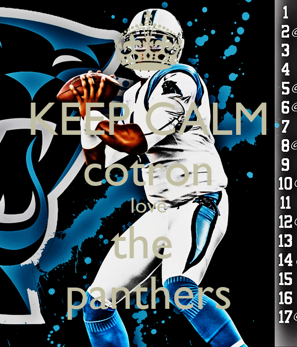 KEEP CALM cotron love the  panthers
