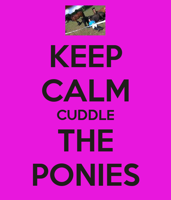 KEEP CALM CUDDLE THE PONIES