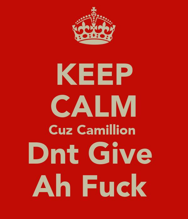 KEEP CALM Cuz Camillion  Dnt Give  Ah Fuck