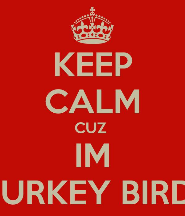 KEEP CALM CUZ  IM TURKEY BIRD
