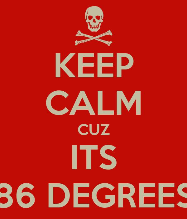 KEEP CALM CUZ ITS 86 DEGREES