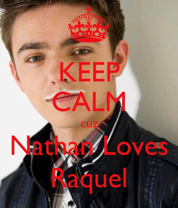 KEEP CALM cuz Nathan Loves Raquel