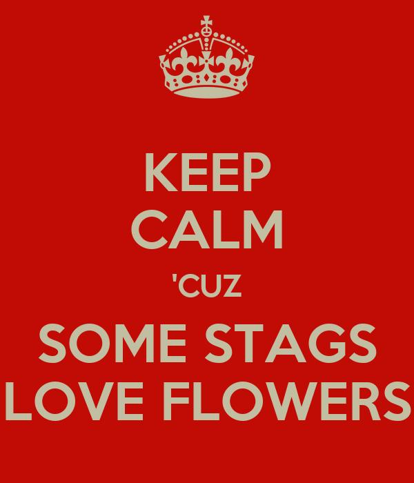 KEEP CALM 'CUZ SOME STAGS LOVE FLOWERS