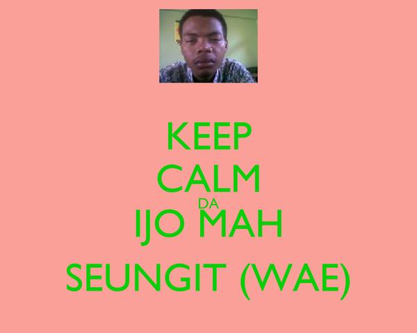 KEEP CALM DA IJO MAH SEUNGIT (WAE)