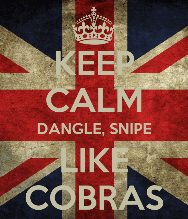 KEEP CALM DANGLE, SNIPE LIKE COBRAS