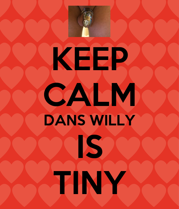KEEP CALM DANS WILLY IS TINY