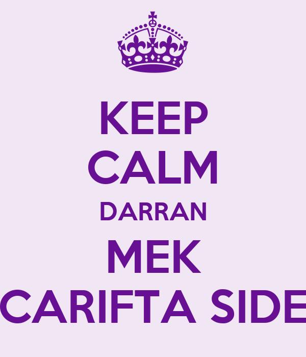 KEEP CALM DARRAN MEK CARIFTA SIDE