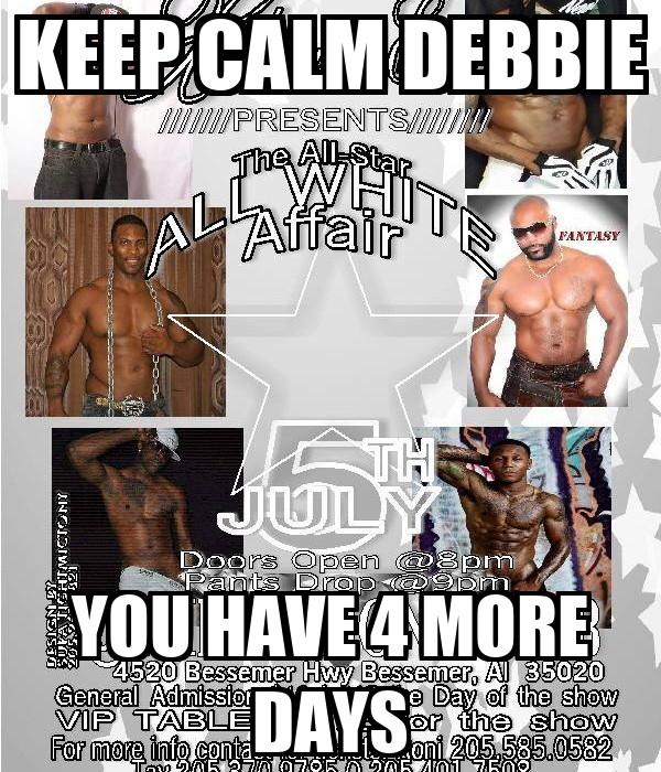 KEEP CALM DEBBIE YOU HAVE 4 MORE DAYS
