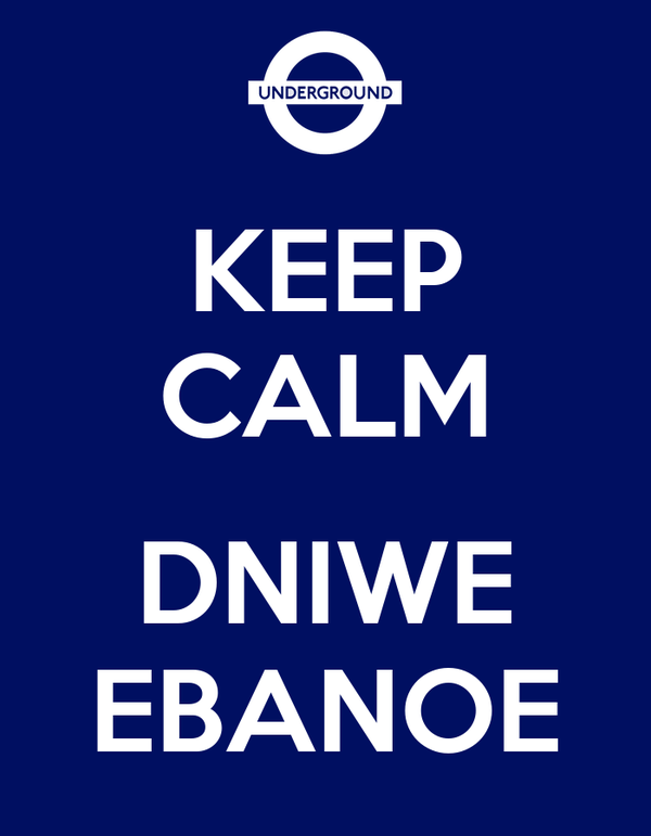 KEEP CALM  DNIWE EBANOE