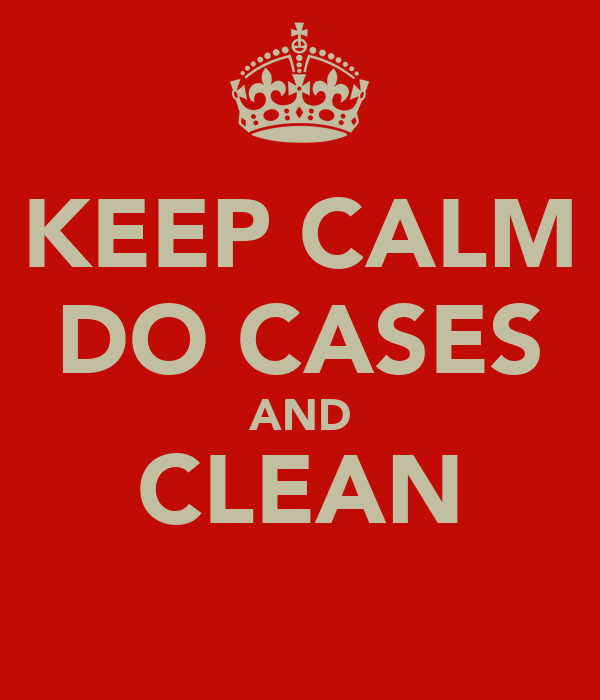 KEEP CALM DO CASES AND CLEAN