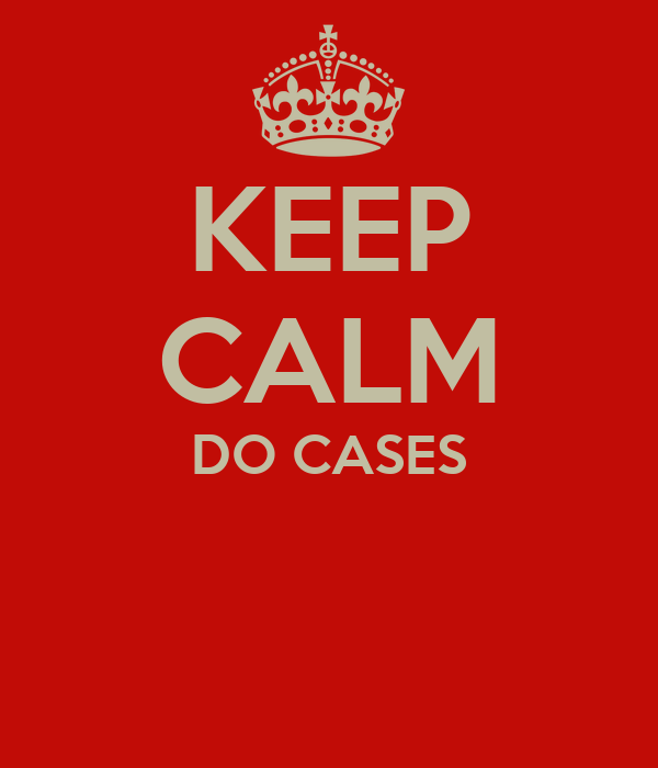 KEEP CALM DO CASES