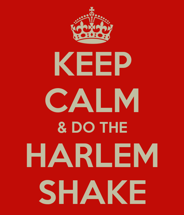 KEEP CALM & DO THE HARLEM SHAKE