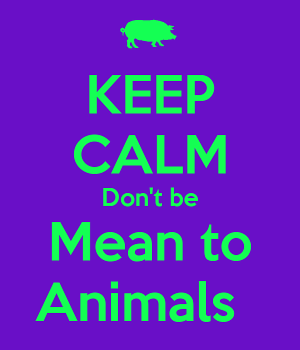 KEEP CALM Don't be Mean to Animals