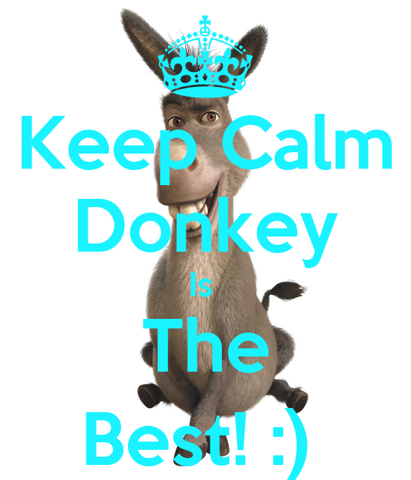 Keep Calm Donkey Is  The Best! :)