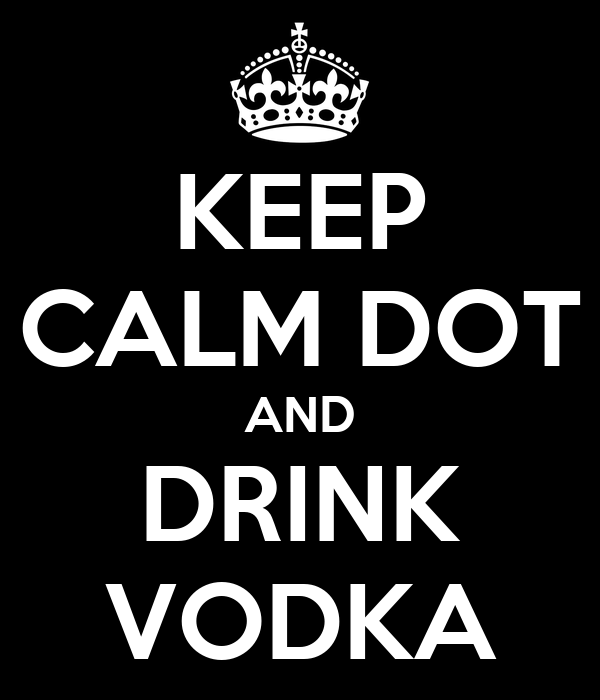 KEEP CALM DOT AND DRINK VODKA