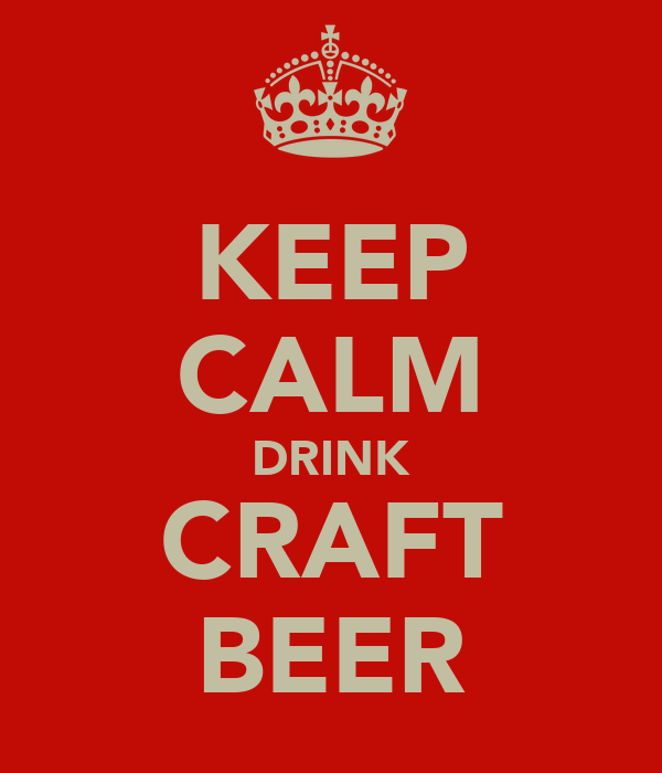 KEEP CALM DRINK CRAFT BEER