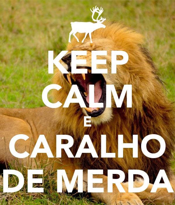 KEEP CALM E CARALHO DE MERDA