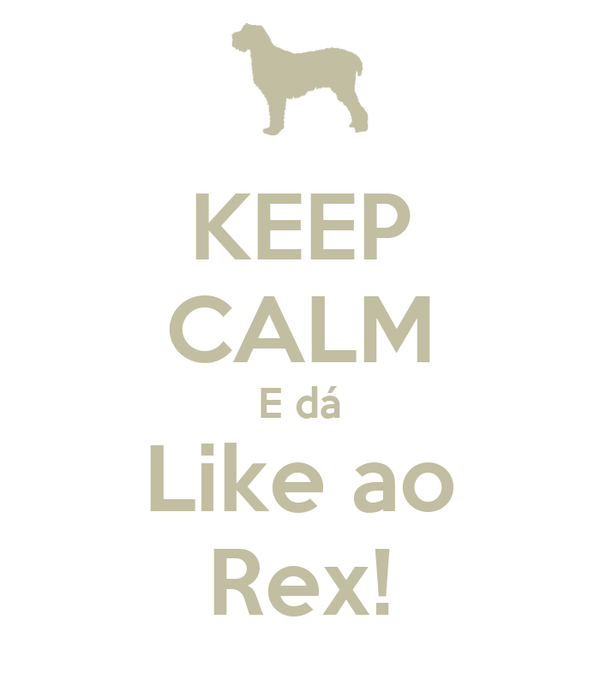 KEEP CALM E dá Like ao Rex!