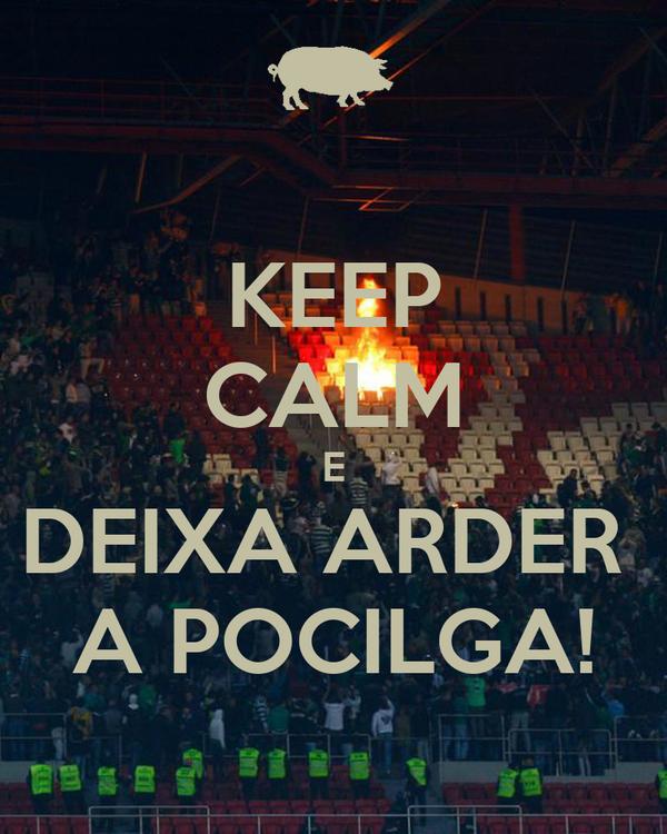 KEEP CALM E DEIXA ARDER  A POCILGA!
