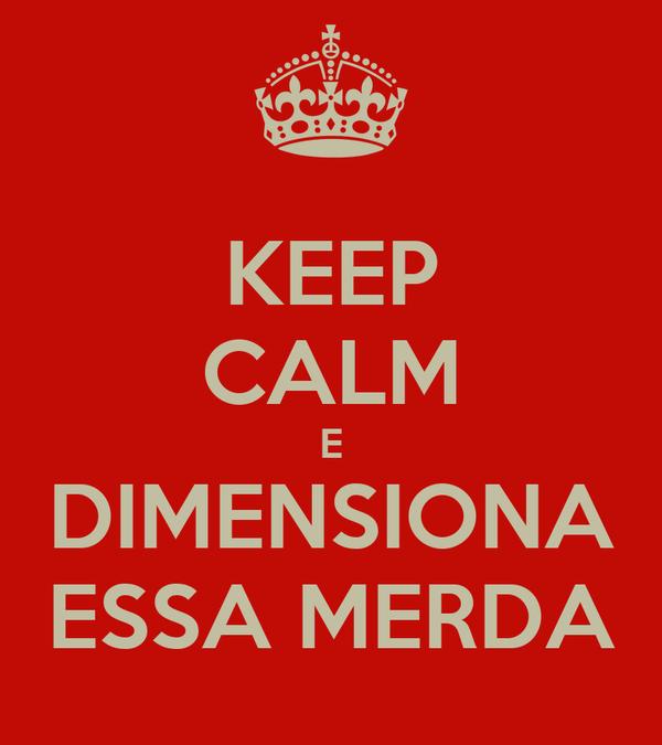 KEEP CALM E DIMENSIONA ESSA MERDA