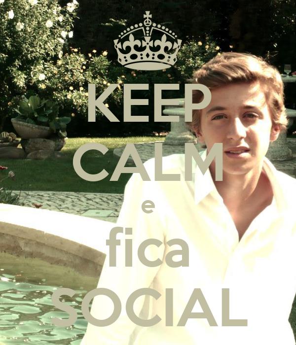 KEEP CALM e fica SOCIAL