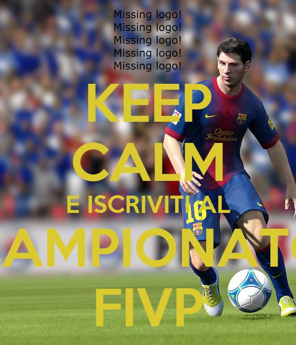 KEEP CALM E ISCRIVITI AL CAMPIONATO FIVP