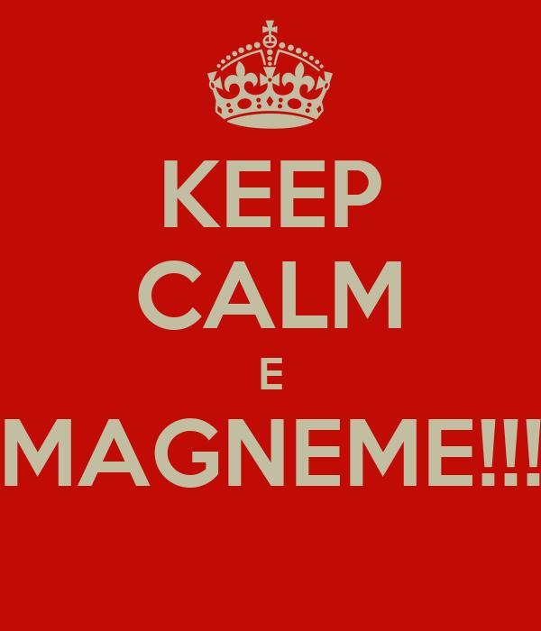 KEEP CALM E MAGNEME!!!