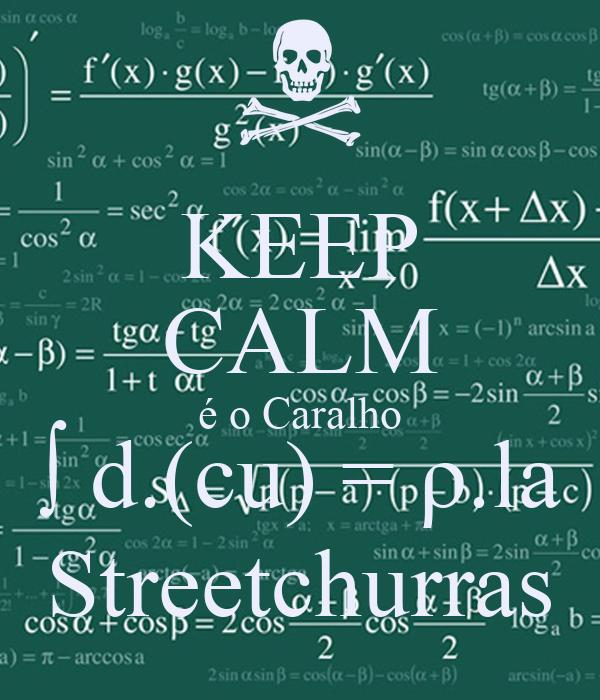 KEEP CALM é o Caralho ∫ d.(cu) = ρ.la Streetchurras